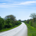 Rural road uphill Royalty Free Stock Photos