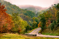 A rural road in Virginia Royalty Free Stock Photo