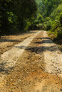 Rural roads in underdeveloped country thailand Royalty Free Stock Images