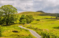 Rural scene in cumbria scenic view of a picturesque england Stock Photo