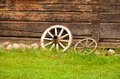 Rural still life retro with wheels Stock Images