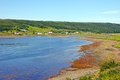 Rural town on the Coast of Newfoundland Royalty Free Stock Photo