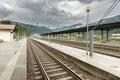Rural Train Station Royalty Free Stock Photo