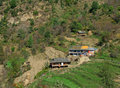 Rural  tribal himalayan dwelling in Kullu India Royalty Free Stock Image