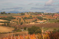 Rural Umbria landscape in the autumn season Royalty Free Stock Photo