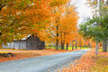 Rural Vermont landscape in autumn time