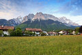 Rural village of bavarian and alpine alps in germany Royalty Free Stock Photography