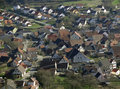 Rural village high angle shot of a in southern germany Royalty Free Stock Photo