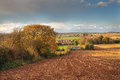 Rural worcestershire looking towards the clent hills from drayton near belbroughton england Stock Images