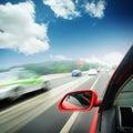 Rush car,motion blur steet Stock Photos