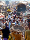 Rush in Fruit and Vegetable Market Stock Photography