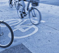 Rush hour cyclists Royalty Free Stock Image