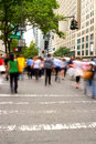 Rush hour at Fifth Avenue, NY Royalty Free Stock Photo