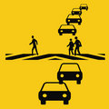 Rush hour safety Royalty Free Stock Photography