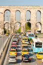 Rush hour traffic in istanbul at noon Stock Photos
