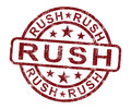 Rush Stamp Shows Speedy Urgent Delivery Royalty Free Stock Image