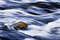 Rushing Water And Rock Royalty Free Stock Photo