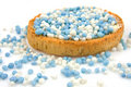 Rusk with blue mice Royalty Free Stock Image