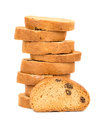 Rusks with raisins Royalty Free Stock Photo
