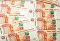Ruso five thousand billetes de banco de la rublo Imágenes de archivo libres de regalías