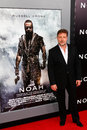 Russell crowe new york mar actor attends the premiere of noah at the ziegfeld theatre on march in new york city Royalty Free Stock Images
