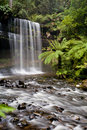 Russell falls in mt field national park on a cold winter s morning in tasmania australia Stock Images