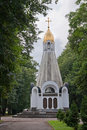 Russia. Chapel dedicated to the 900th anniversary of Ryazan on the Cathedral square in Ryazan.