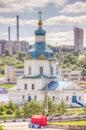 Russia cheboksary church dormition most holy theotokos landmark Stock Photos
