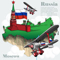 Russia country infographic map in 3d