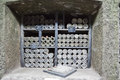 RUSSIA, CRIMEA, YALTA - may 29.2014: Old bottles in the cellars of the winery
