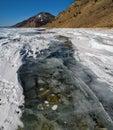 The unique ice lake Baikal