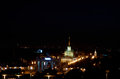 Russia. Exhibition of Economic Achievements in Moscow at night.