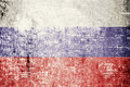 Russia flag on wood texture background Stock Photography