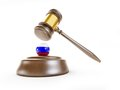 Russia gavel on a white background Royalty Free Stock Photos