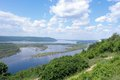 Russia great river volga samara city Stock Photography