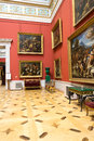 Russia the hermitage hall of italian art of centuries Stock Photo