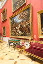 Russia the hermitage hall of italian art of centuries Royalty Free Stock Photo