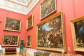 Russia the hermitage hall of italian art of centuries Royalty Free Stock Image