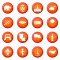 Russia icons vector set