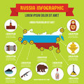 Russia infographic concept, flat style