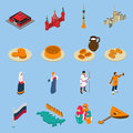 Russia Isometric Touristics Icons Set