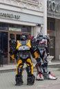 stock image of  Russia, Kazan, may 1, 2018, big robots on the street, editorial