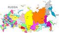 Russia map Stock Images