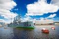 Russia, marine, neva, navy, battleship, revolution, ship, river, Royalty Free Stock Photo