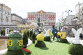 Russia, Moscow, Easter festive decoration of the square in fron