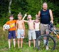 RUSSIA, MOSCOW, MAI 22, 2014: Country junior soccer team make ph Royalty Free Stock Photo