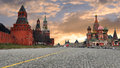 Russia. Moscow. The red area. Royalty Free Stock Photo