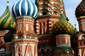 Russia moscow red square basil church in in Stock Photos