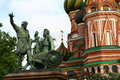 Russia moscow red square basil church in in Stock Images