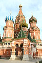 Russia moscow red square basil church in in Stock Photo